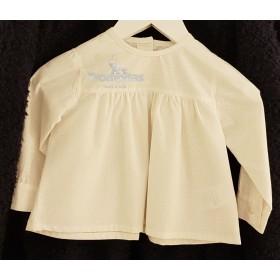 Blusa Florecitas Blanca Bebé