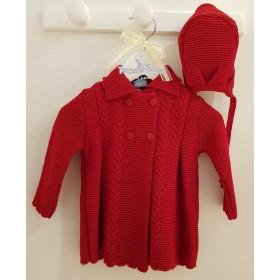 Abrigo y capota ondas rojo