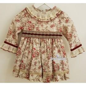 Vestido Estampado Granate...