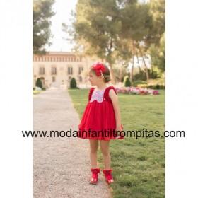 Vestido Plumeti Rojo