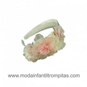 Diadema Crudo con Flores