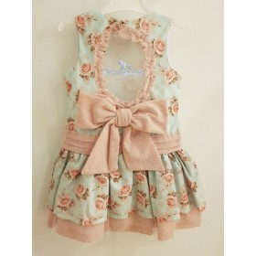 Vestido Flores Espalda Abierta