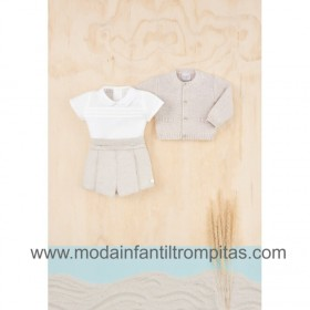 Camisa y Bombacho Lino Natural