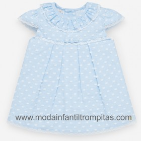 Vestido Plumeti Kai Azul