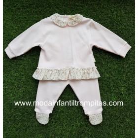 Pijama Rosa 2 pz Volantitos...