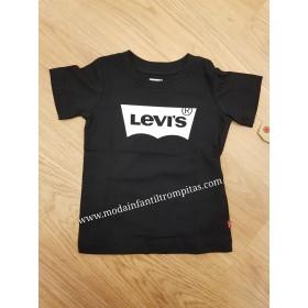 Camiseta Levis Negra y Blanco