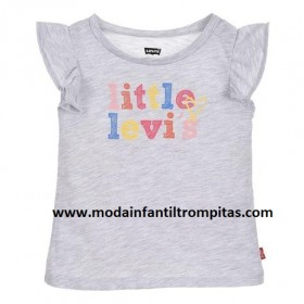 Camiseta Little Levis Gris...