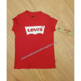 Camiseta Rojo Levis Niña
