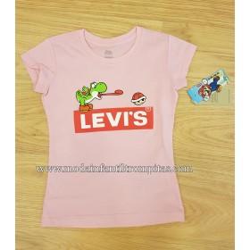 Camiseta Levis Rosa Yoshi...