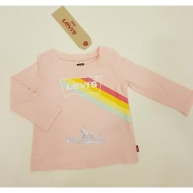 Camiseta Levis Arcoiris Rosa