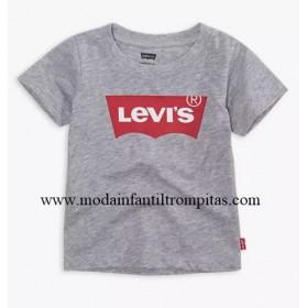 Camiseta Levis Gris y Rojo