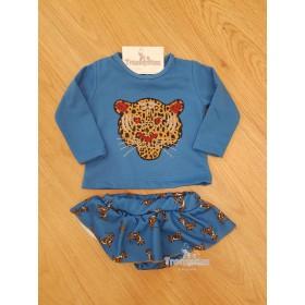 Sudadera y Braga Leopardo Azul