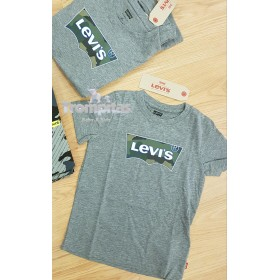Camiseta Gris Levis Camuflaje