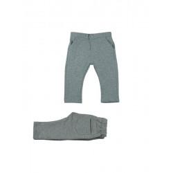 Pantalon Largo Felpa Gris