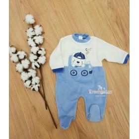 Pijama Osito Coche Azul