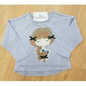 Camiseta Niña Brillos con...