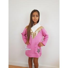 Vestido Sudadera Rosa...