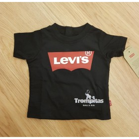 Camiseta Levis Negro y Rojo