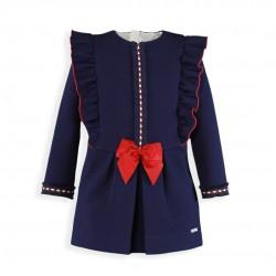 Vestido Marino y Granate...