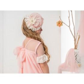 Vestido Tul Plisado Rosa