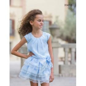 Vestido Plumeti Azul