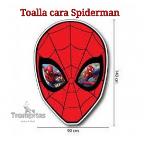 Toalla Cara Spiderman