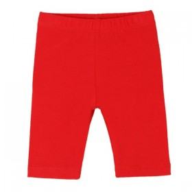 Legging Basico Corto Bebe Rojo