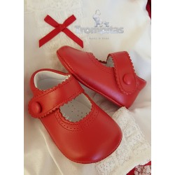 Zapato Napa Rojo Velcro