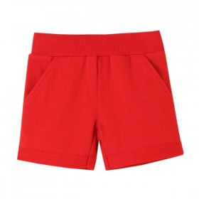Short Basico Algodon Rojo