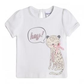 Camiseta Leopardo Gris y Rosa