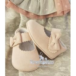 Zapato Serraje Lazo Rosa Baby