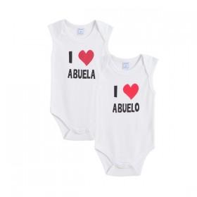 Pack 2 Bodys I Love Abuelo...