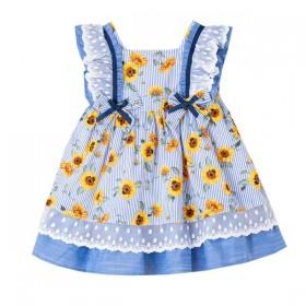 Vestido Girasoles Azul