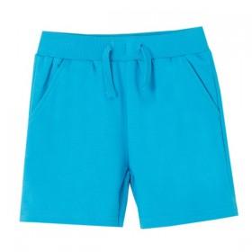 Pantalon Corto Cordones Azul