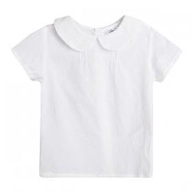 Blusa Plumeti Blanco Cuello...