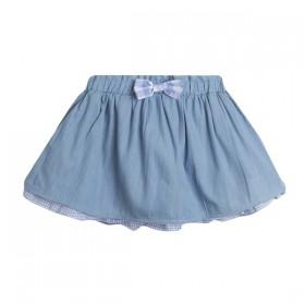 Falda Azul con Vichy