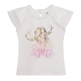 Camiseta Niña Tutu Flores