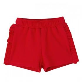 Short Algodon Volantitos Rojo