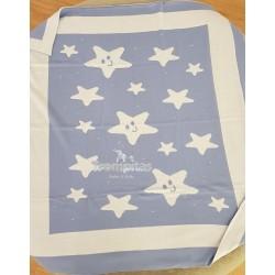 Manta Estrellas Azul y Blanco
