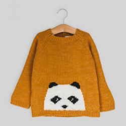 Jersey Jacquard Oso Panda...