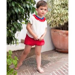 Camisa y Bombacho Rojo Debesos