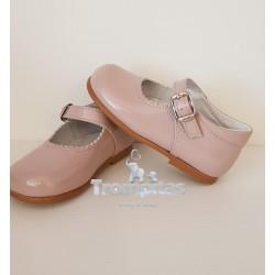 Zapato Hebilla Charol Rosa...